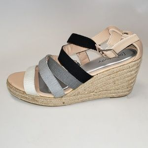 Relativity 'Lively' Open Toe Wedge Sandals